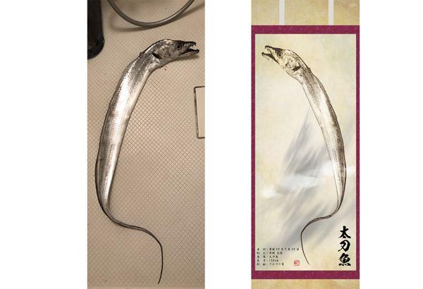 【昇り龍】掛け軸風デジタル魚拓の写真を撮ろう