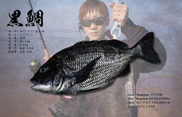 黒鯛デジタル魚拓